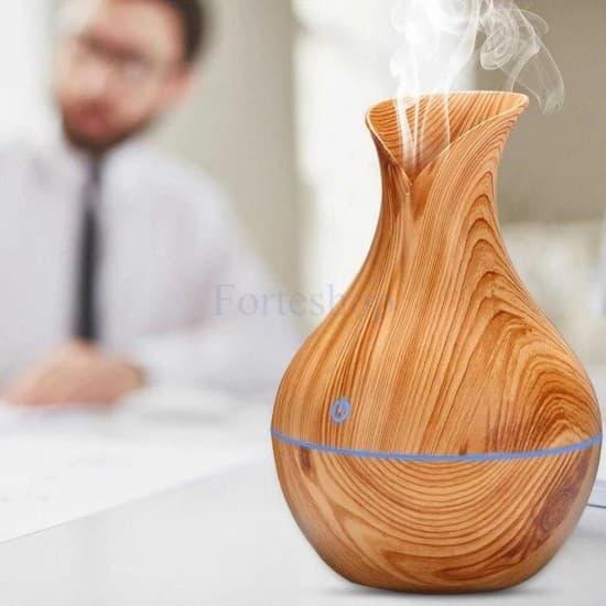 Арома дифузер - овлажнител за въздух с етерични масла